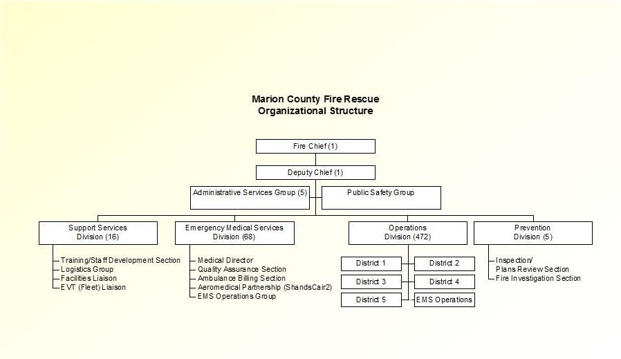 Organizational Structure – Fire Department Organizational Chart