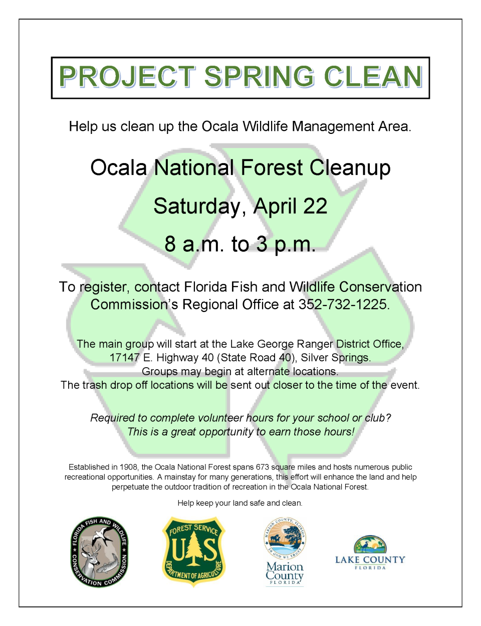 2017 Project Spring Clean FWC flyer revsm