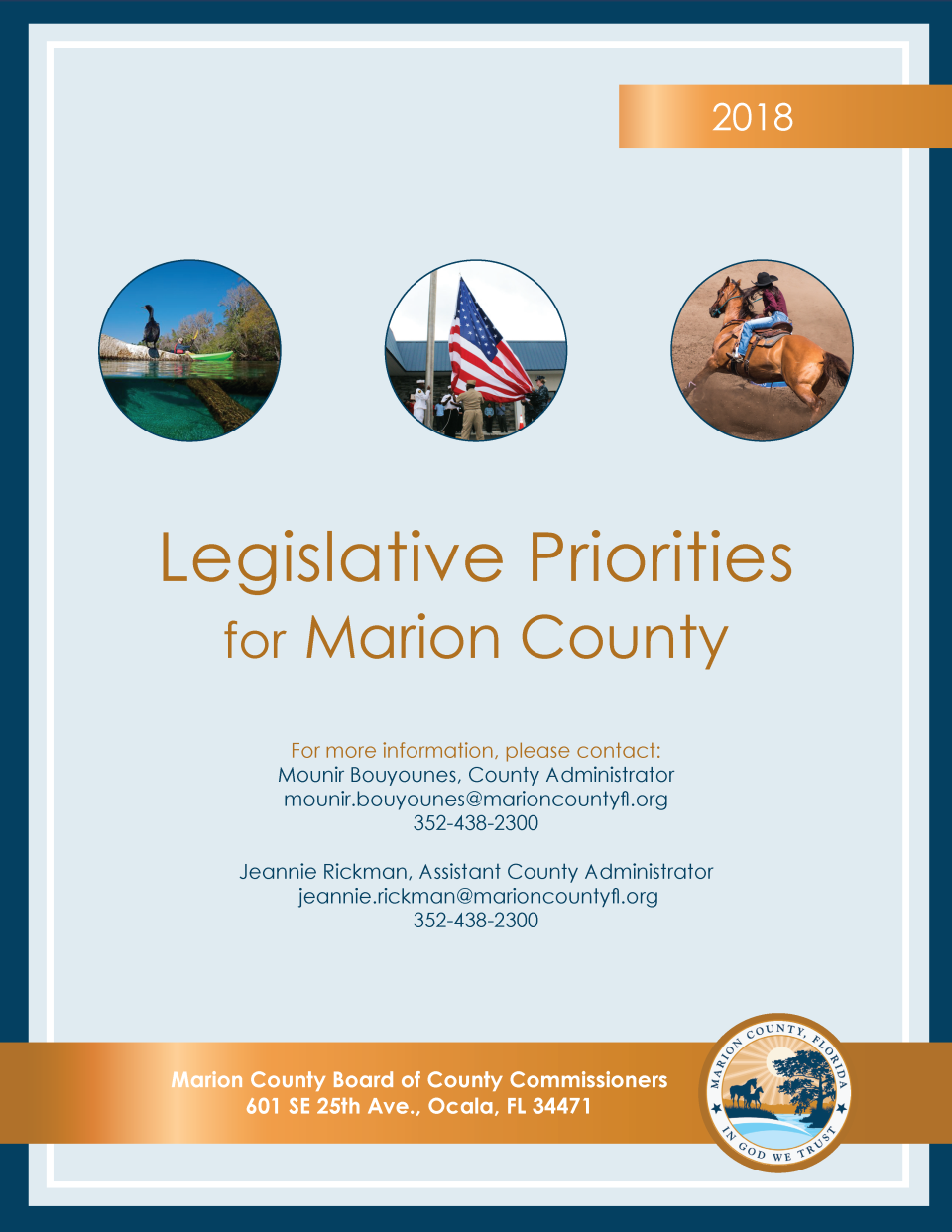 2018 Legislative priorities COVER