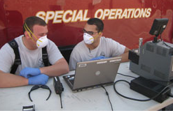 HazMat team masks