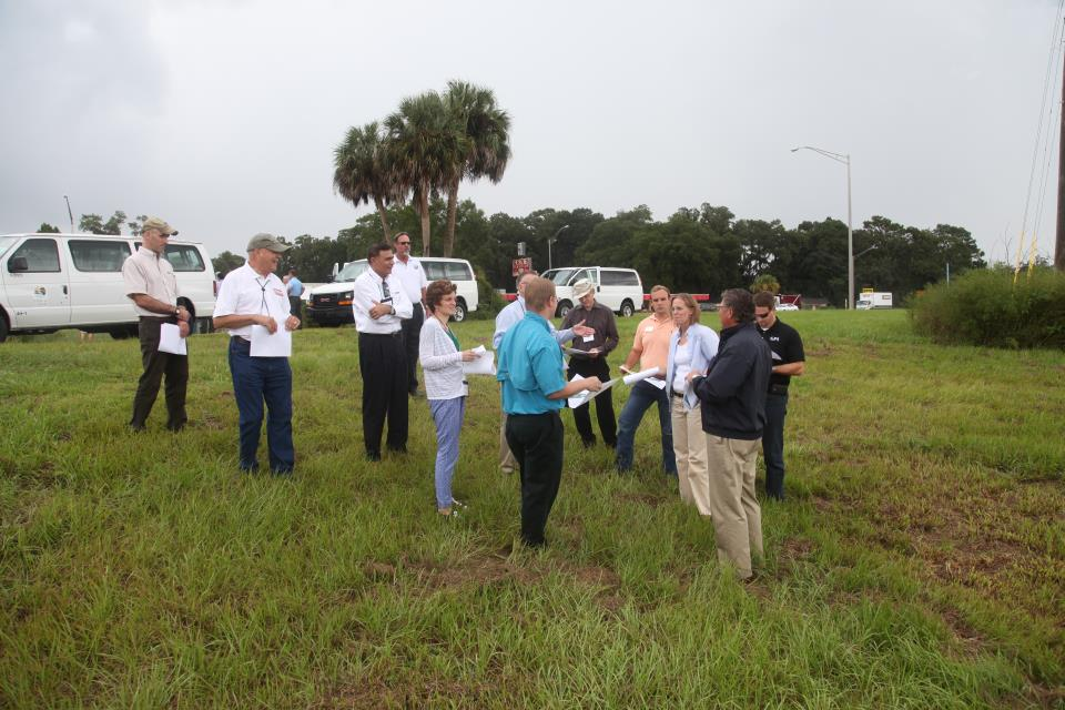 Marion County engineers explaining local stormwater management