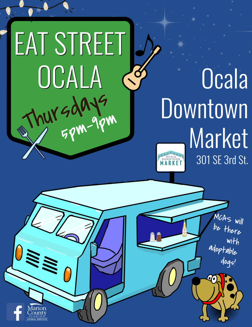 Eat Street Ocala flier Thursdays