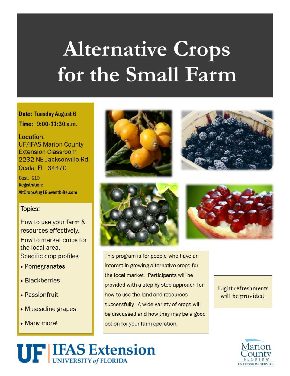 Alternative Crops for the Small Farm