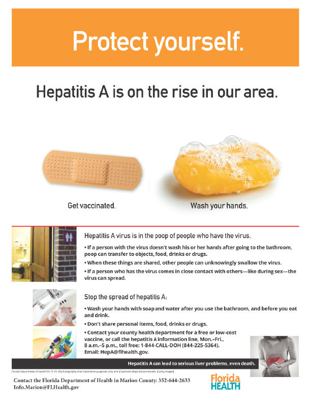 Hep A protection tips flier