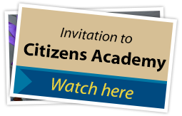 Invitation to Citizens Academy SPOTLIGHT